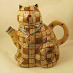 Plaid Cat Teapot